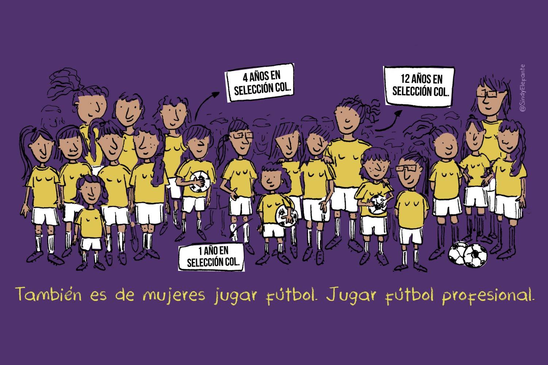 Fútbol femenino, Colombia