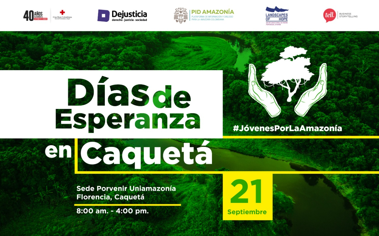Días de Esperanza en Caquetá, nos vemos este 21 de septiembre en Florencia.