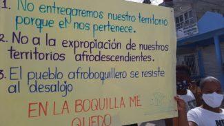 Protesta en La Boquilla por anulación del título colectivo.