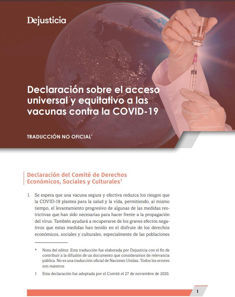 ONU vacunas Covid-19