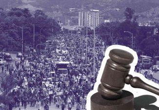 Tribunal Superior de Cundinamarca protesta